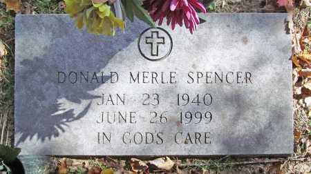 SPENCER, DONALD MERLE - Benton County, Arkansas | DONALD MERLE SPENCER - Arkansas Gravestone Photos