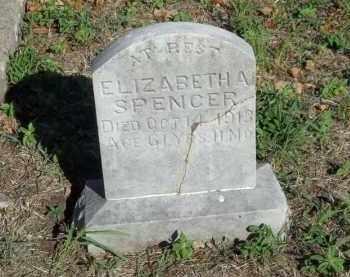 SPENCER, ELIZABETH A - Benton County, Arkansas | ELIZABETH A SPENCER - Arkansas Gravestone Photos