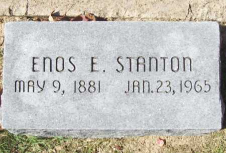 STANTON, ENOS E. - Benton County, Arkansas | ENOS E. STANTON - Arkansas Gravestone Photos