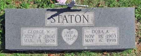 STANTON, GEORGE W. - Benton County, Arkansas | GEORGE W. STANTON - Arkansas Gravestone Photos