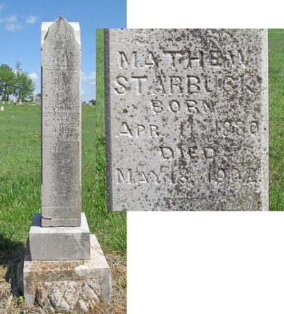 STARBUCK, MATHEW - Benton County, Arkansas | MATHEW STARBUCK - Arkansas Gravestone Photos