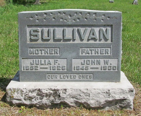SULLIVAN, JULIA F - Benton County, Arkansas | JULIA F SULLIVAN - Arkansas Gravestone Photos
