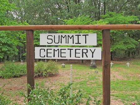 *SUMMIT CEMETERY SIGN,  - Benton County, Arkansas    *SUMMIT CEMETERY SIGN - Arkansas Gravestone Photos