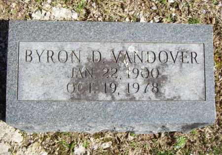 VANDOVER, BYRON D. - Benton County, Arkansas | BYRON D. VANDOVER - Arkansas Gravestone Photos