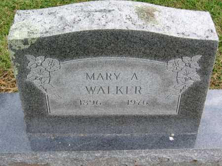WALKER, MARY A. - Benton County, Arkansas   MARY A. WALKER - Arkansas Gravestone Photos