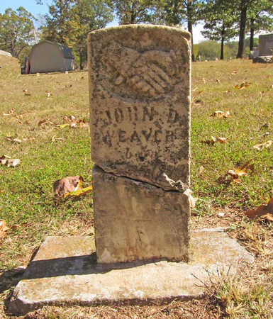 WEAVER, JOHN D - Benton County, Arkansas | JOHN D WEAVER - Arkansas Gravestone Photos