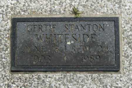 STANTON WHITESIDE, GERTIE - Benton County, Arkansas | GERTIE STANTON WHITESIDE - Arkansas Gravestone Photos