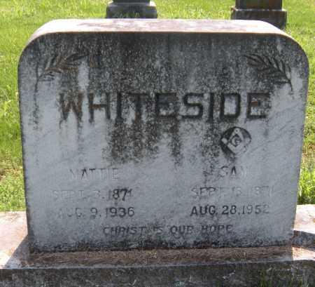 WHITESIDE, MATTIE - Benton County, Arkansas | MATTIE WHITESIDE - Arkansas Gravestone Photos