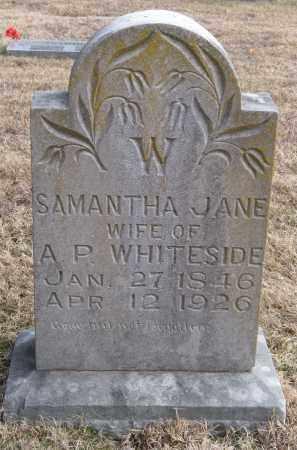 WHITESIDE, SAMANTHA JANE - Benton County, Arkansas | SAMANTHA JANE WHITESIDE - Arkansas Gravestone Photos