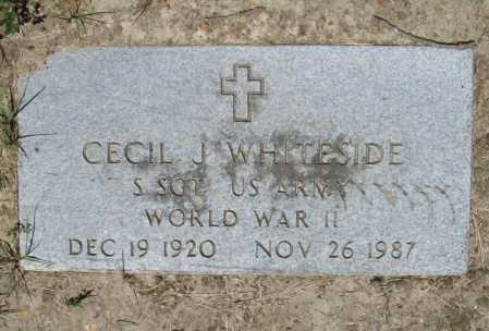 WHITESIDE (VETERAN WWII), CECIL J - Benton County, Arkansas | CECIL J WHITESIDE (VETERAN WWII) - Arkansas Gravestone Photos