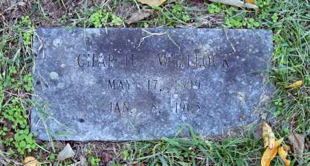 WHILLOCK, CHARLIE - Benton County, Arkansas   CHARLIE WHILLOCK - Arkansas Gravestone Photos