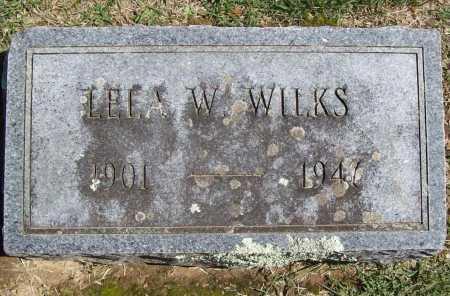WILKS, LELA W. - Benton County, Arkansas   LELA W. WILKS - Arkansas Gravestone Photos