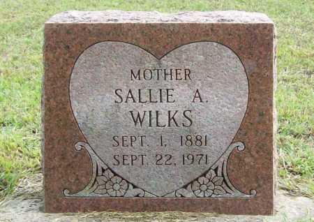 WILKS, SALLIE A. - Benton County, Arkansas   SALLIE A. WILKS - Arkansas Gravestone Photos