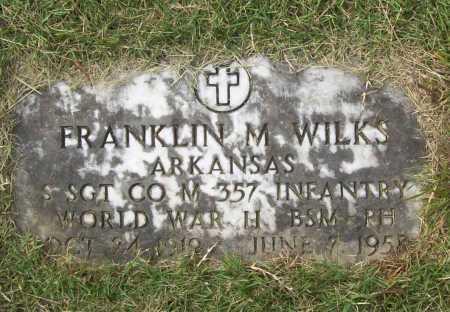 WILKS (VETERAN WWII), FRANKLIN MILBERN - Benton County, Arkansas   FRANKLIN MILBERN WILKS (VETERAN WWII) - Arkansas Gravestone Photos