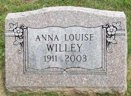 WILLEY, ANNA LOUISE - Benton County, Arkansas | ANNA LOUISE WILLEY - Arkansas Gravestone Photos