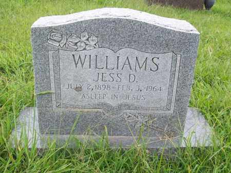 WILLIAMS, JESS D. - Benton County, Arkansas   JESS D. WILLIAMS - Arkansas Gravestone Photos