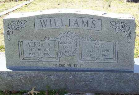 WILLIAMS, JANE - Benton County, Arkansas | JANE WILLIAMS - Arkansas Gravestone Photos