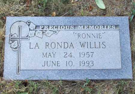 "ZINN WILLIS, LA RONDA ""RONNIE"" - Benton County, Arkansas | LA RONDA ""RONNIE"" ZINN WILLIS - Arkansas Gravestone Photos"
