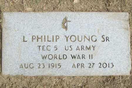 YOUNG, SR. (VETERAN WWII), LAWRENCE PHILIP - Benton County, Arkansas   LAWRENCE PHILIP YOUNG, SR. (VETERAN WWII) - Arkansas Gravestone Photos
