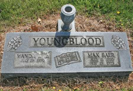 YOUNGBLOOD, MAX BAER - Benton County, Arkansas   MAX BAER YOUNGBLOOD - Arkansas Gravestone Photos