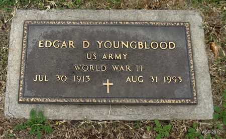 YOUNGBLOOD (VETERAN WWII), EDGAR D - Benton County, Arkansas | EDGAR D YOUNGBLOOD (VETERAN WWII) - Arkansas Gravestone Photos