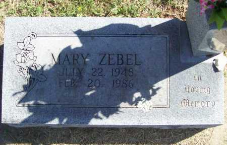 ZEBEL, MARY - Benton County, Arkansas   MARY ZEBEL - Arkansas Gravestone Photos