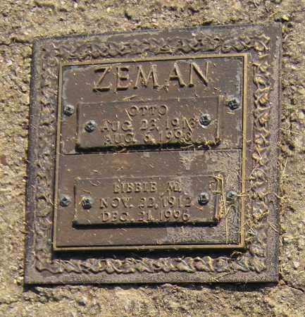 ZEMAN, OTTO - Benton County, Arkansas | OTTO ZEMAN - Arkansas Gravestone Photos