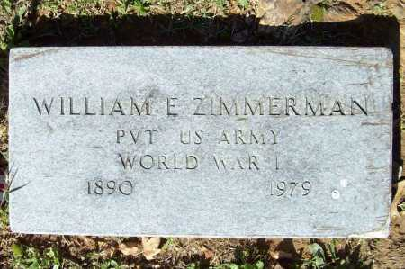 ZIMMERMAN (VETERAN WWI), WILLIAM E - Benton County, Arkansas   WILLIAM E ZIMMERMAN (VETERAN WWI) - Arkansas Gravestone Photos