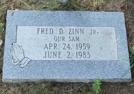 "ZINN, JR, FRED D. ""SAM"" - Benton County, Arkansas | FRED D. ""SAM"" ZINN, JR - Arkansas Gravestone Photos"
