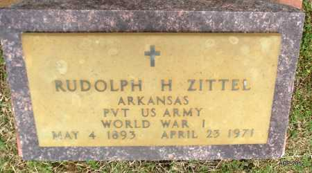 ZITTEL (VETERAN WWI), RUDOLPH H - Benton County, Arkansas | RUDOLPH H ZITTEL (VETERAN WWI) - Arkansas Gravestone Photos