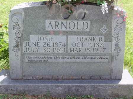 ARNOLD, FRANK BOOKER - Boone County, Arkansas | FRANK BOOKER ARNOLD - Arkansas Gravestone Photos