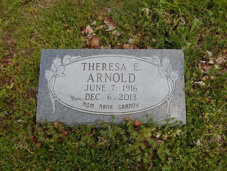 ARNOLD, THERESA E - Boone County, Arkansas | THERESA E ARNOLD - Arkansas Gravestone Photos