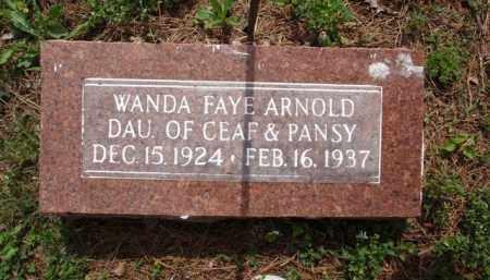 ARNOLD, WANDA FAYE - Boone County, Arkansas   WANDA FAYE ARNOLD - Arkansas Gravestone Photos