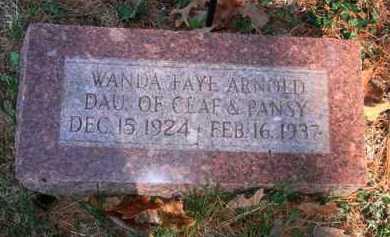 ARNOLD, WANDA FAYE - Boone County, Arkansas | WANDA FAYE ARNOLD - Arkansas Gravestone Photos