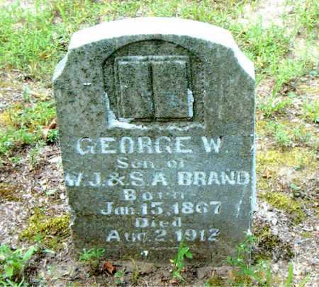 BRAND, GEORGE W - Boone County, Arkansas | GEORGE W BRAND - Arkansas Gravestone Photos