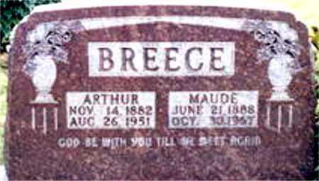 BREECE, ARTHUR - Boone County, Arkansas | ARTHUR BREECE - Arkansas Gravestone Photos