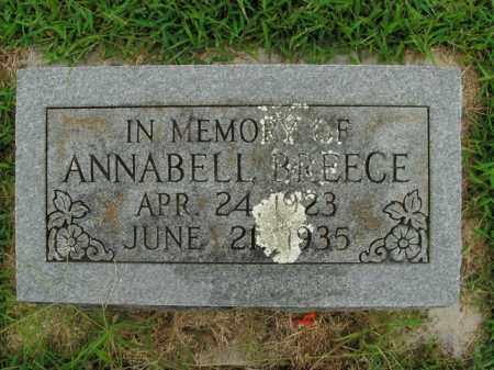 BREECE, ANABELL - Boone County, Arkansas   ANABELL BREECE - Arkansas Gravestone Photos