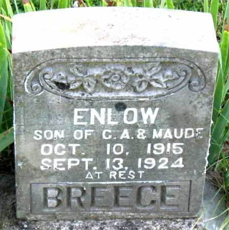 BREECE, ENLOW - Boone County, Arkansas | ENLOW BREECE - Arkansas Gravestone Photos