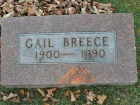 BREECE, GAIL - Boone County, Arkansas | GAIL BREECE - Arkansas Gravestone Photos