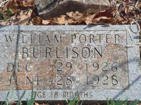 BURLISON, WILLIAM PORTER - Boone County, Arkansas   WILLIAM PORTER BURLISON - Arkansas Gravestone Photos