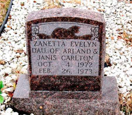 CARLTON, ZANETTA  EVELYN - Boone County, Arkansas | ZANETTA  EVELYN CARLTON - Arkansas Gravestone Photos