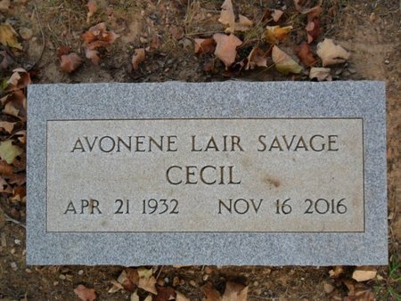 CECIL, AVONENE LAIR - Boone County, Arkansas   AVONENE LAIR CECIL - Arkansas Gravestone Photos