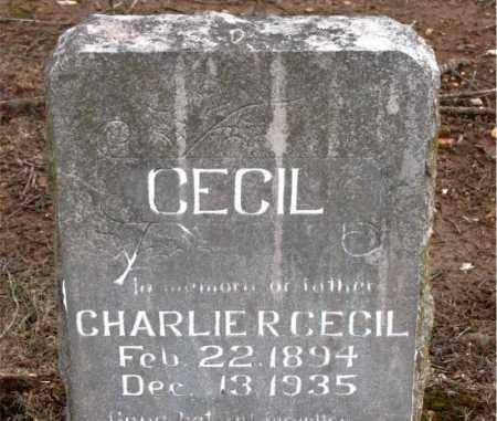 CECIL, CHARLIE  R. - Boone County, Arkansas   CHARLIE  R. CECIL - Arkansas Gravestone Photos