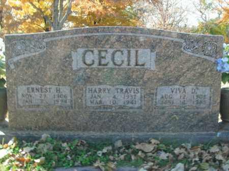 CECIL, HARRY TRAVIS - Boone County, Arkansas   HARRY TRAVIS CECIL - Arkansas Gravestone Photos
