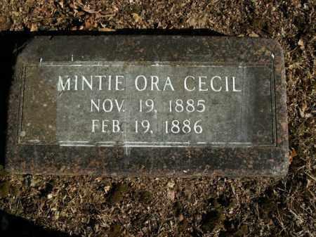 CECIL, MINTIE ORA - Boone County, Arkansas | MINTIE ORA CECIL - Arkansas Gravestone Photos