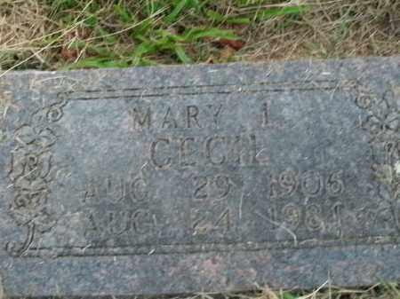 CECIL, MARY L. - Boone County, Arkansas | MARY L. CECIL - Arkansas Gravestone Photos