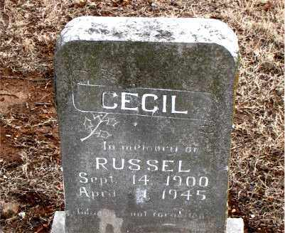 CECIL, RUSSEL - Boone County, Arkansas   RUSSEL CECIL - Arkansas Gravestone Photos
