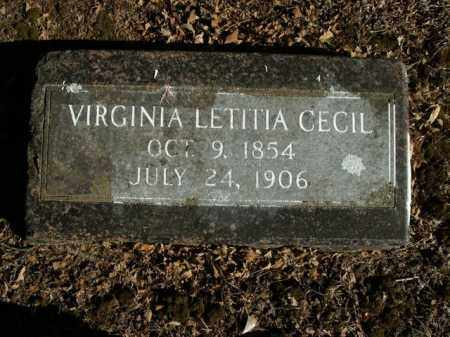 CECIL, VIRGINIA LETITIA - Boone County, Arkansas | VIRGINIA LETITIA CECIL - Arkansas Gravestone Photos