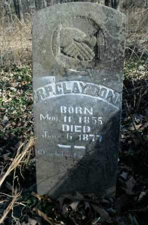 CLAYTON, R.P. - Boone County, Arkansas | R.P. CLAYTON - Arkansas Gravestone Photos