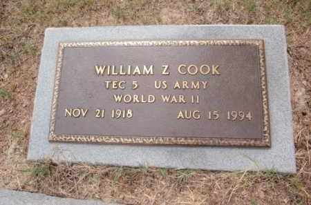 COOK  (VETERAN WWII), WILLIAM Z - Boone County, Arkansas | WILLIAM Z COOK  (VETERAN WWII) - Arkansas Gravestone Photos